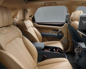 2017 Bentley Bentayga Rear Seats Interior