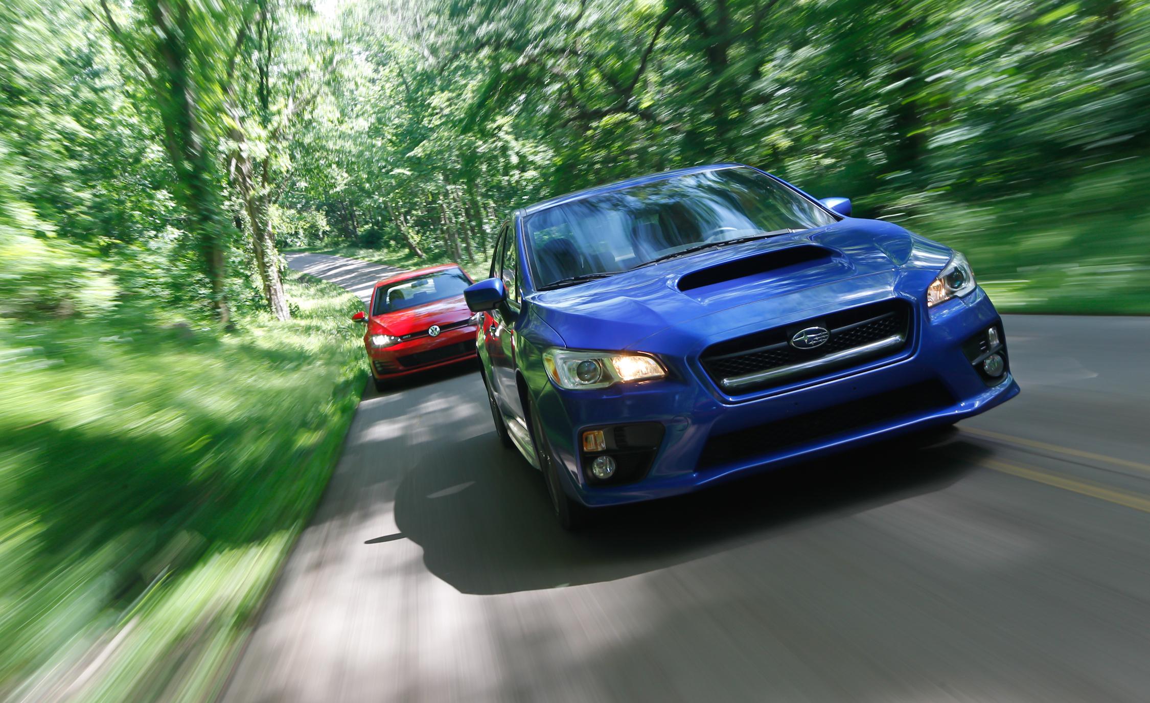 Front Design 2015 Subaru WRX vs 2015 Volkswagen GTI