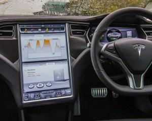 Head Unit and Steering Tesla Model S P85D 2015
