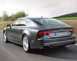 Rear Side View Audi S7 Sedan 2016