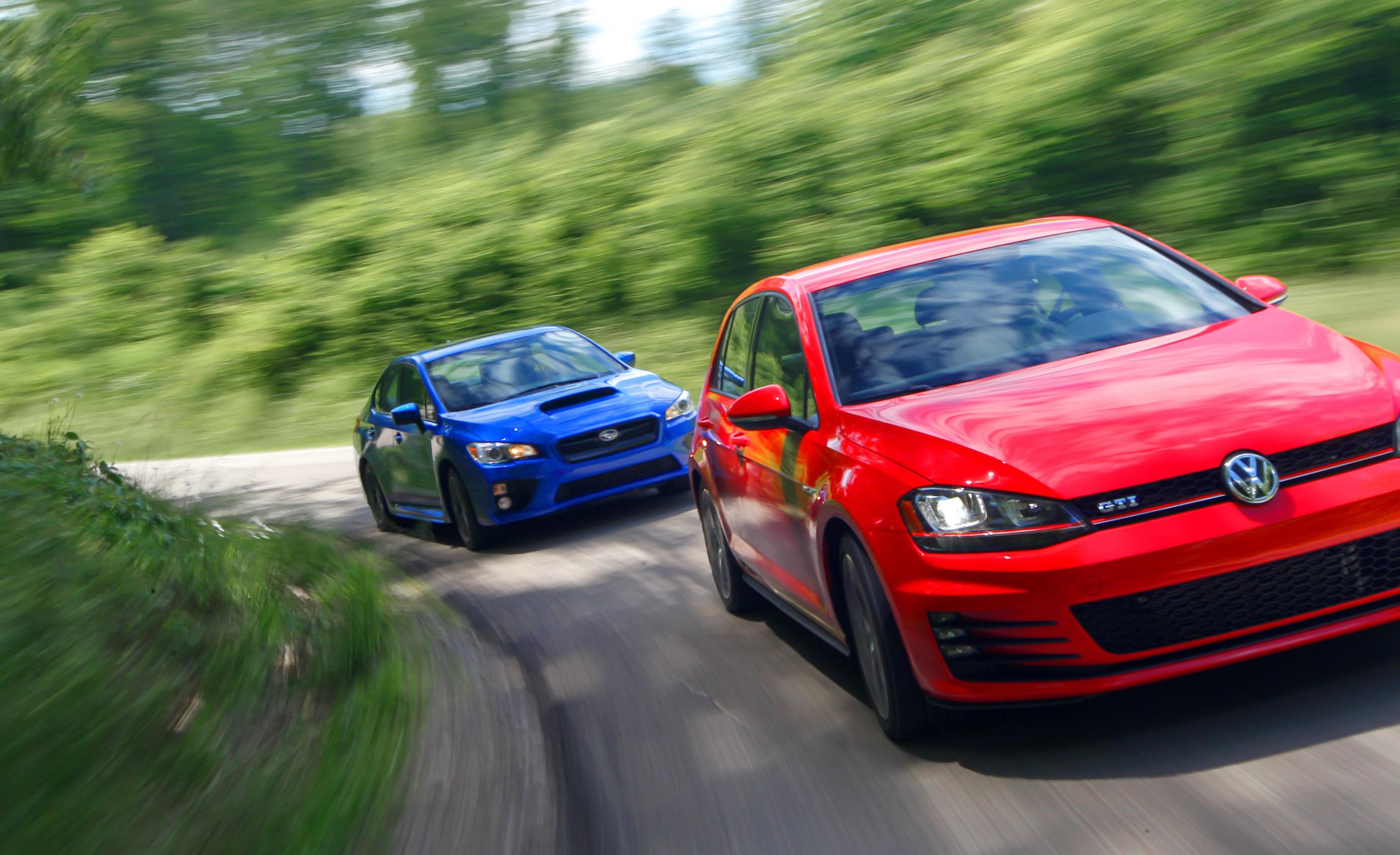 Volkswagen GTI 2015 vs Subaru WRX 2015 Comparison