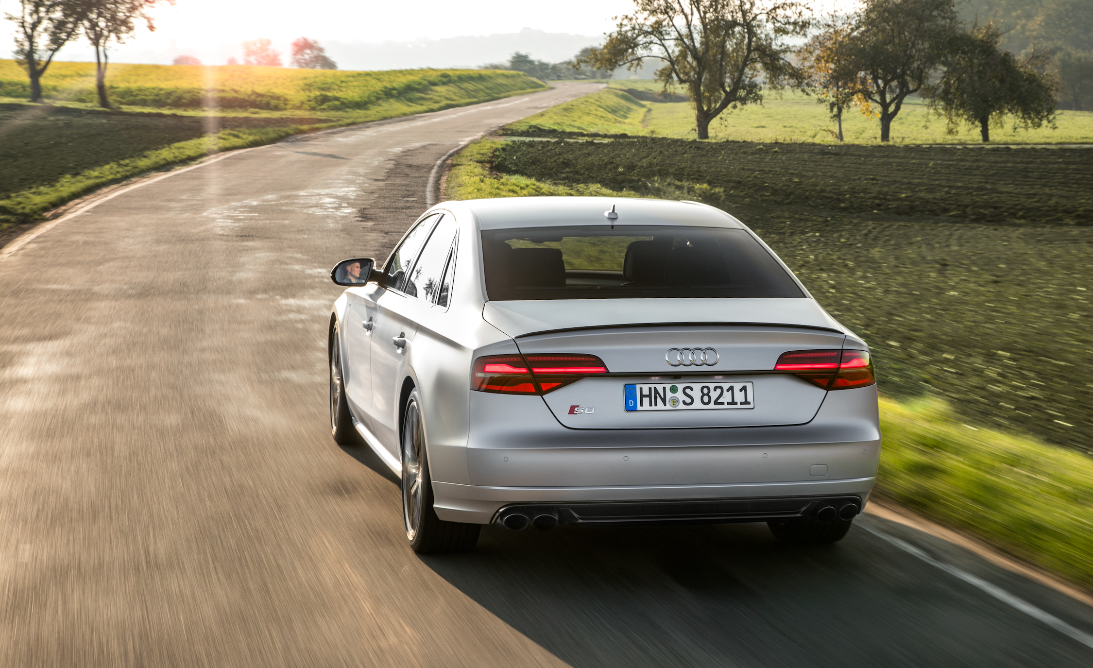 2016 Audi S8 Plus Test Rear View