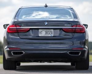 2016 BMW 750i xDrive Gray Metallic Exterior Rear