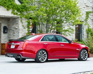 2016 Cadillac CTS-V Red Exterior Full Rear and Side