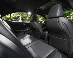 2016 Lexus IS200t F Sport Interior Rear