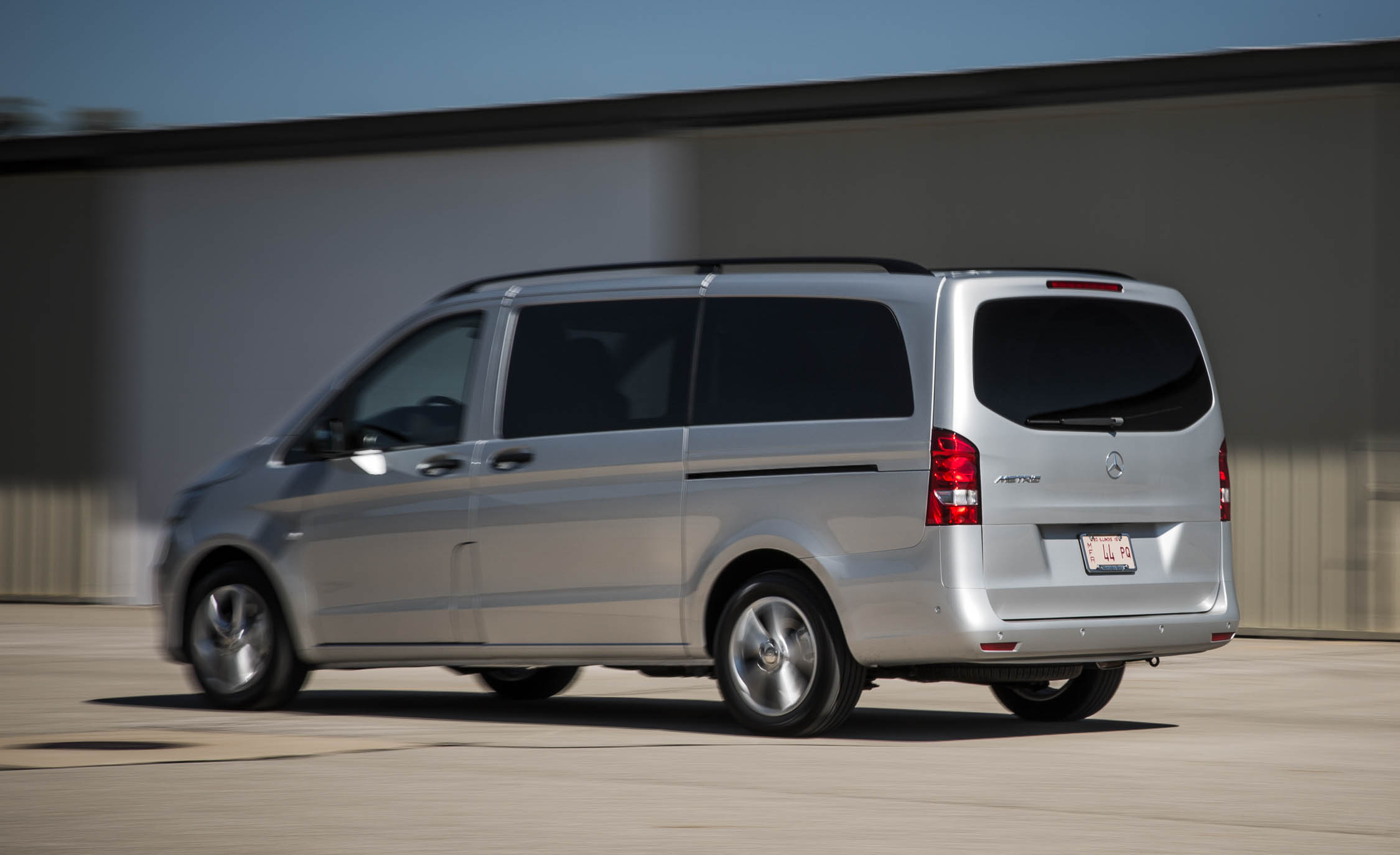 2016 Mercedes-Benz Metris Test Rear and Side View