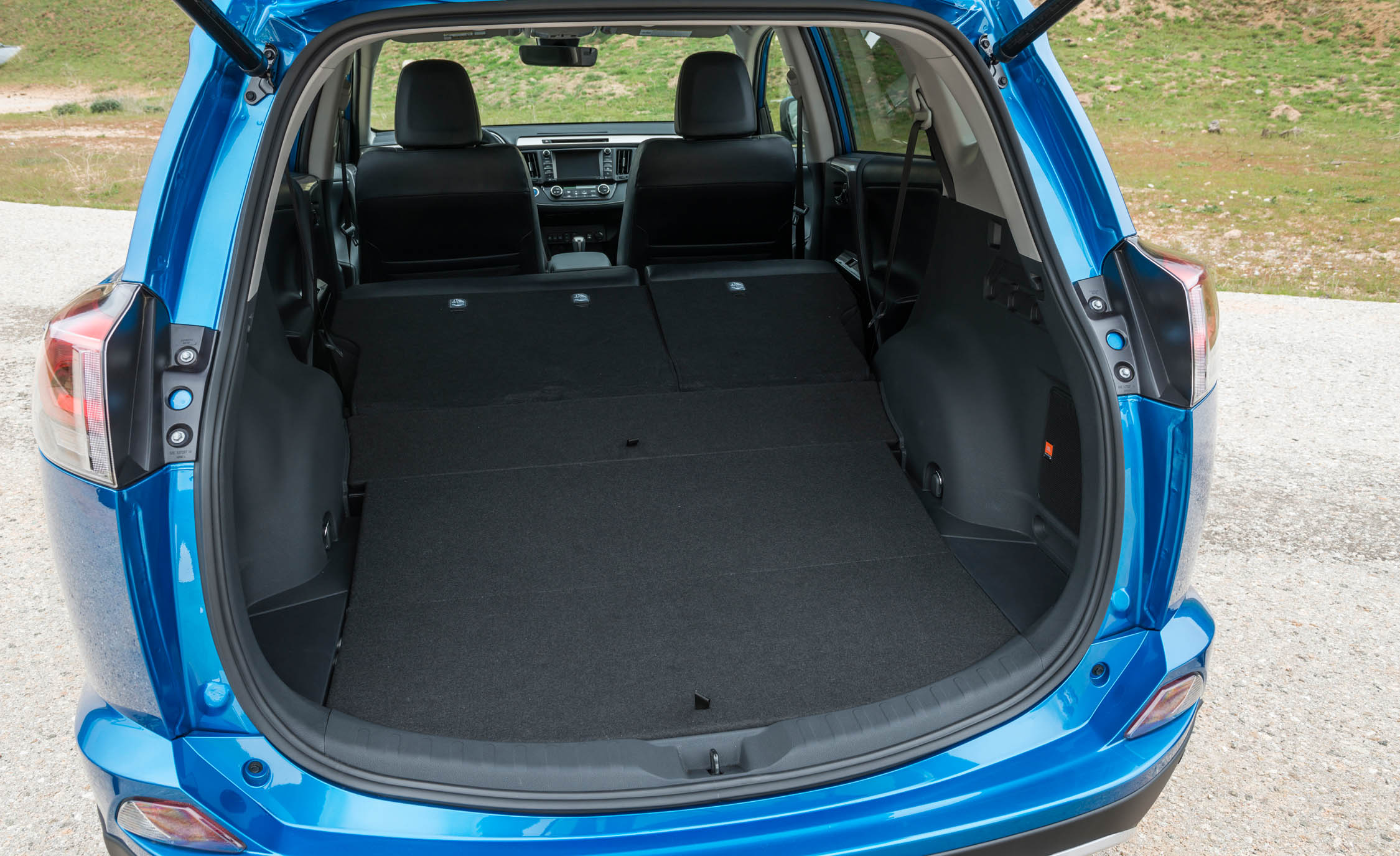 2016 Toyota RAV4 Hybrid Interior Cargo Space with Folded Seats