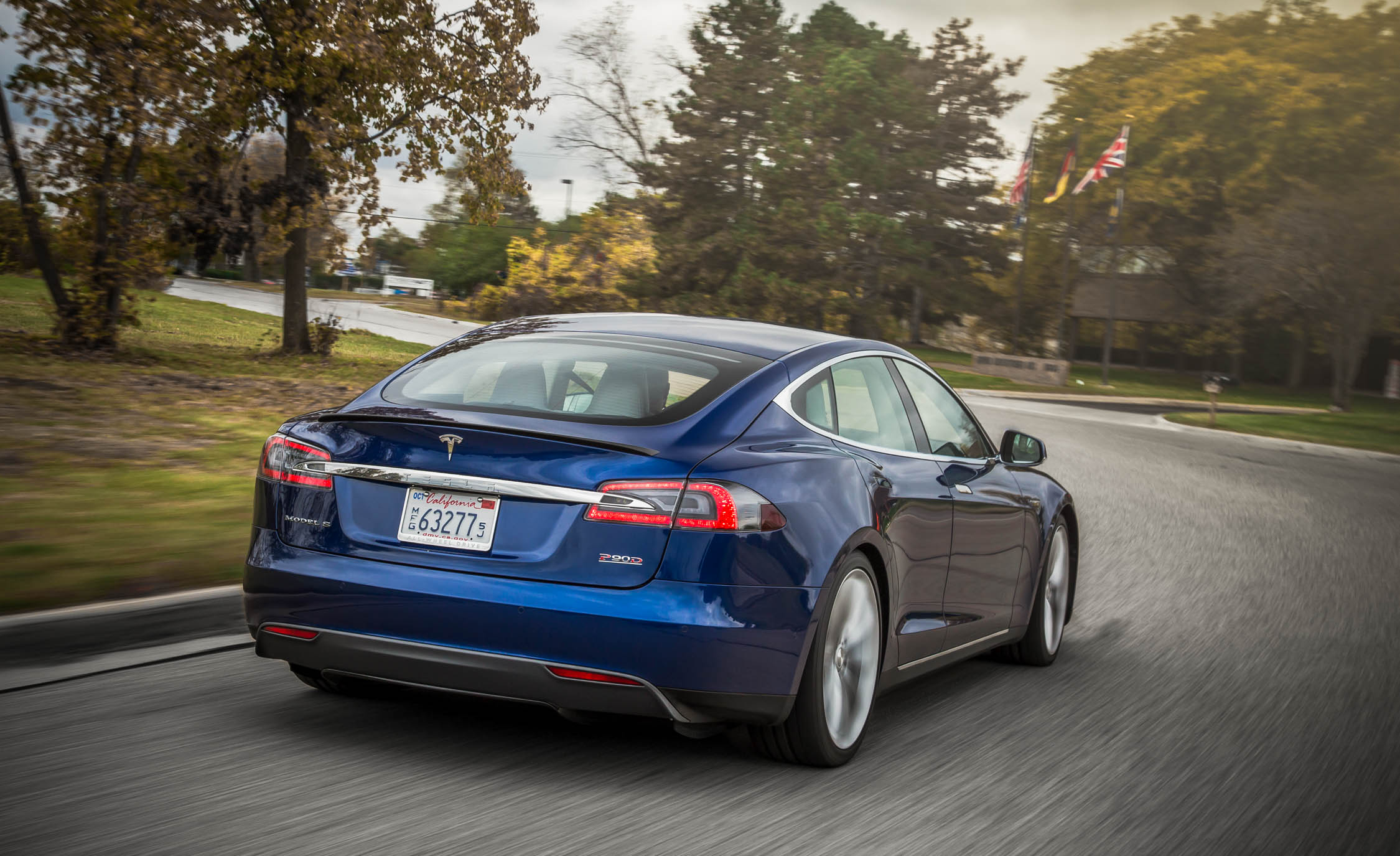 2015 Tesla Model S P90D Exterior Full Rear
