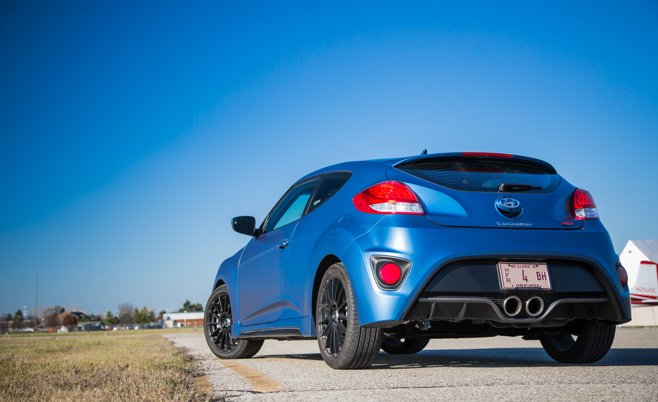 2016 Hyundai Veloster Turbo Rally Edition Exterior Rear and Side