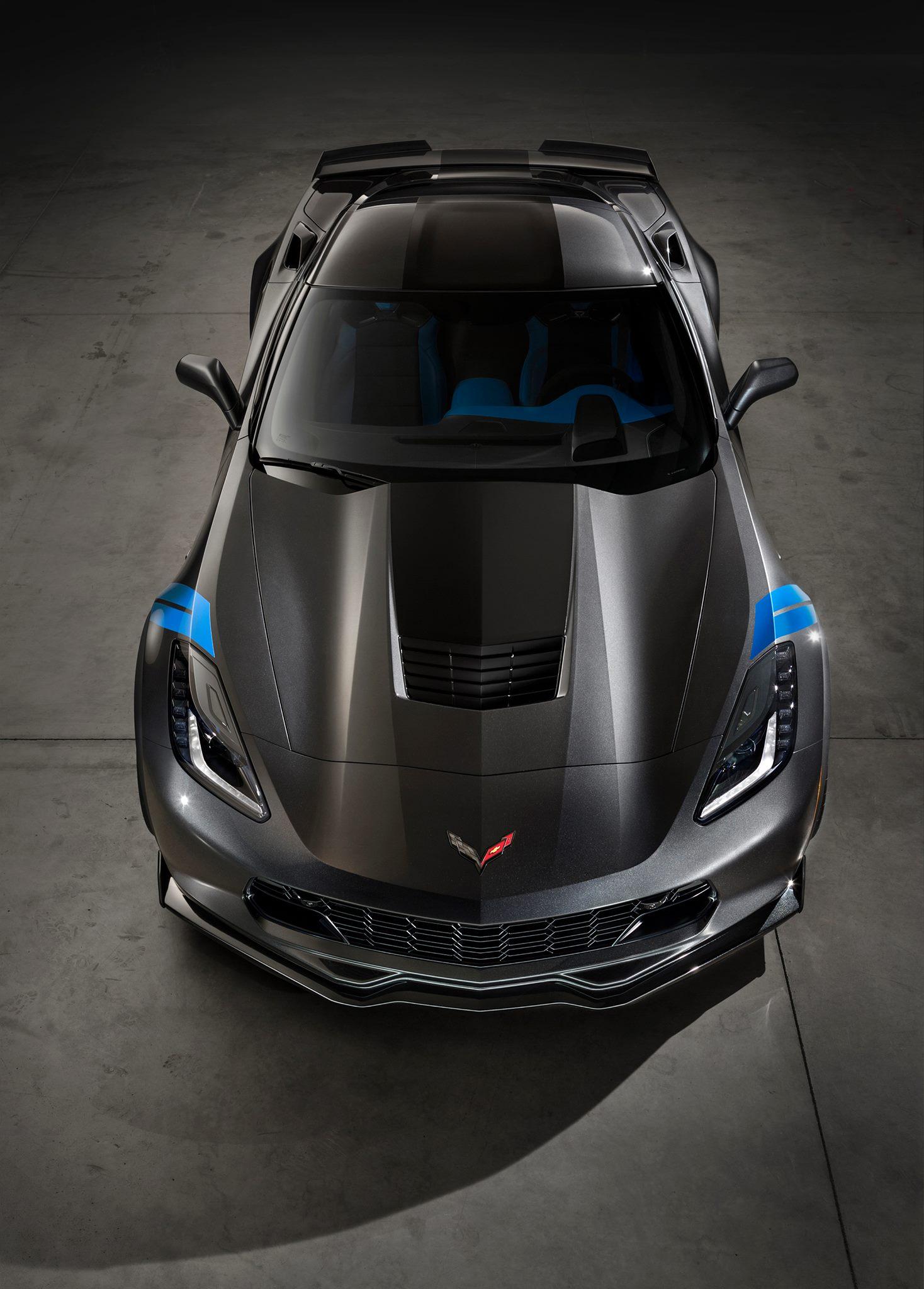2017 Chevrolet Corvette Grand Sport Top View