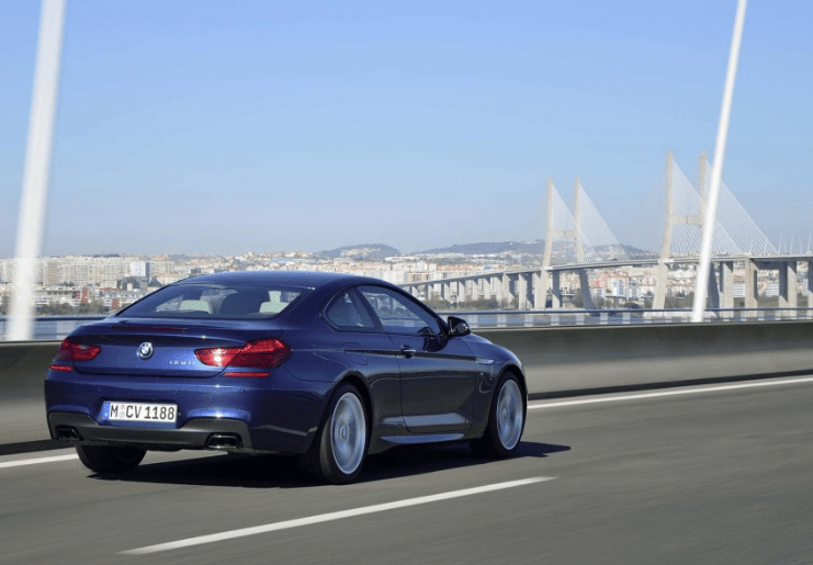 2017 BMW 6 Series Coupe Rear View