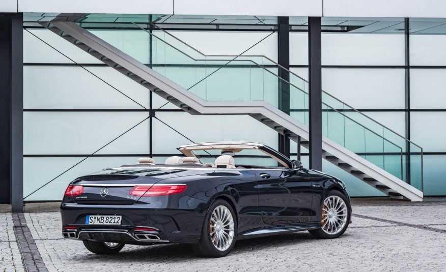 2017 Mercedes AMG S63 Cabriolet Exterior Rear View