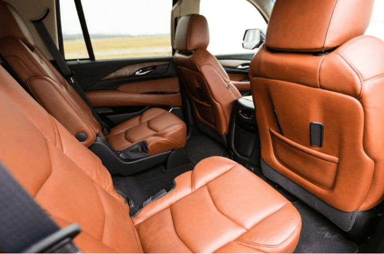 2017 Cadillac Escalade Rear Interior Seats View