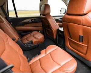 2017 Cadillac Escalade Rear Interior Seats View