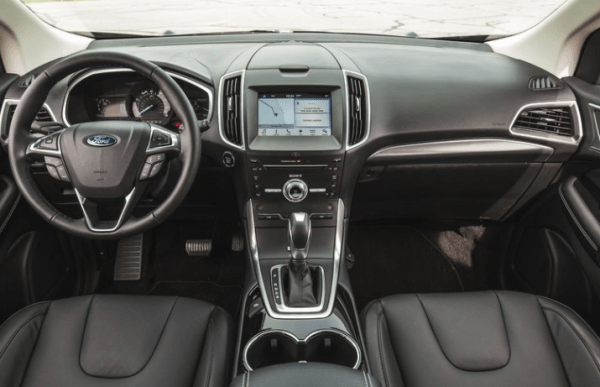 2017 Ford Edge interior dashboard review