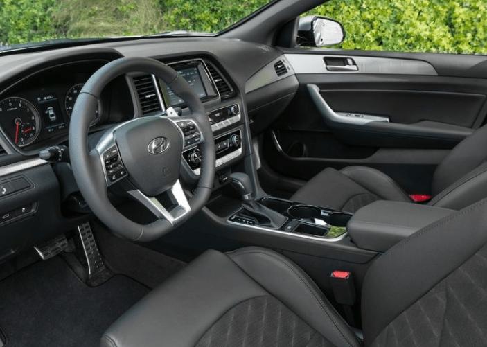 2018 Hyundai Sonata Interior Dashboard View