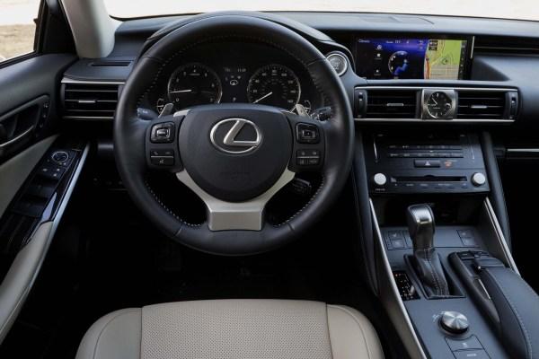 2017 Lexus IS steering dashboard review