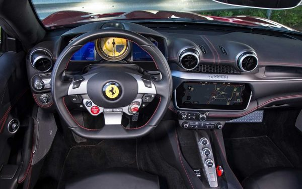 2018 Ferrari Portofino steering interior review