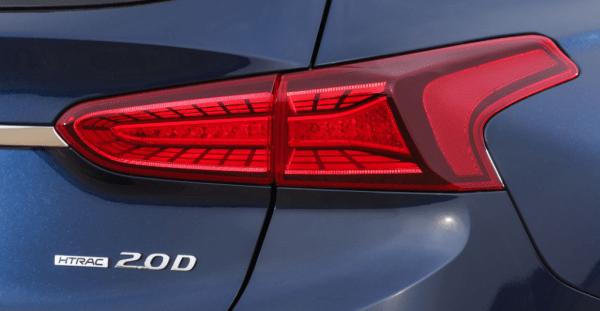 2019 Hyundai Santa Fe rear lights