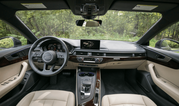 2018 Audi A5 interior steering dashboard review