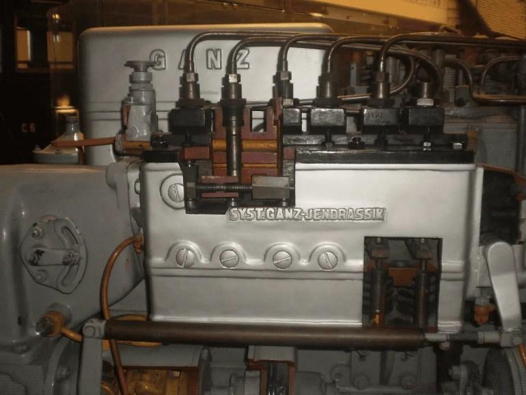 Fuel pump of a Jendrassik Diesel motor