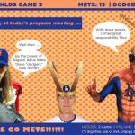 NLDS Game 4: Mets Superheroes Plan to annihilate the Mischievous Dodgers in Tonight's Showdown.