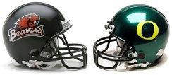 UO and OSU football helmets