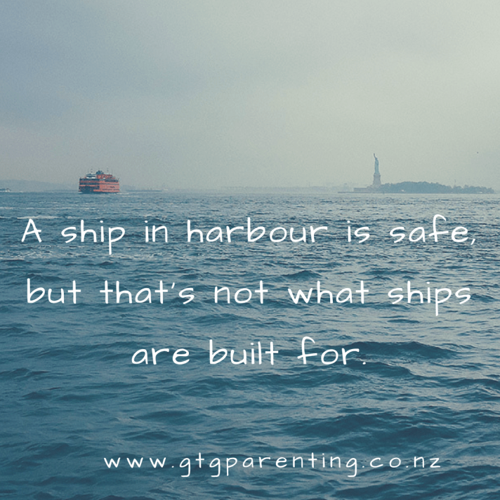 A ship in harbour is safe but thats not what ships are built for.