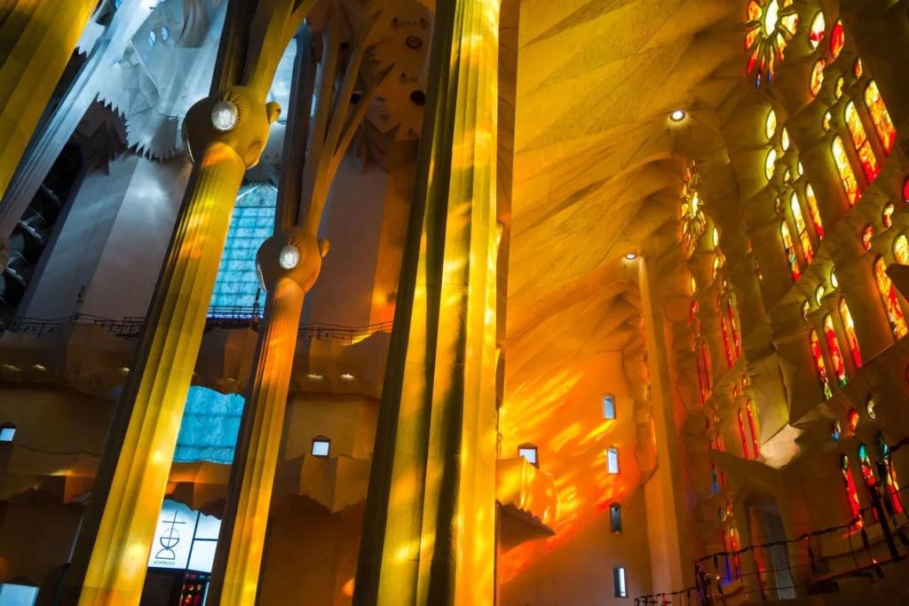 Sagrada Familia interieur Barcelone