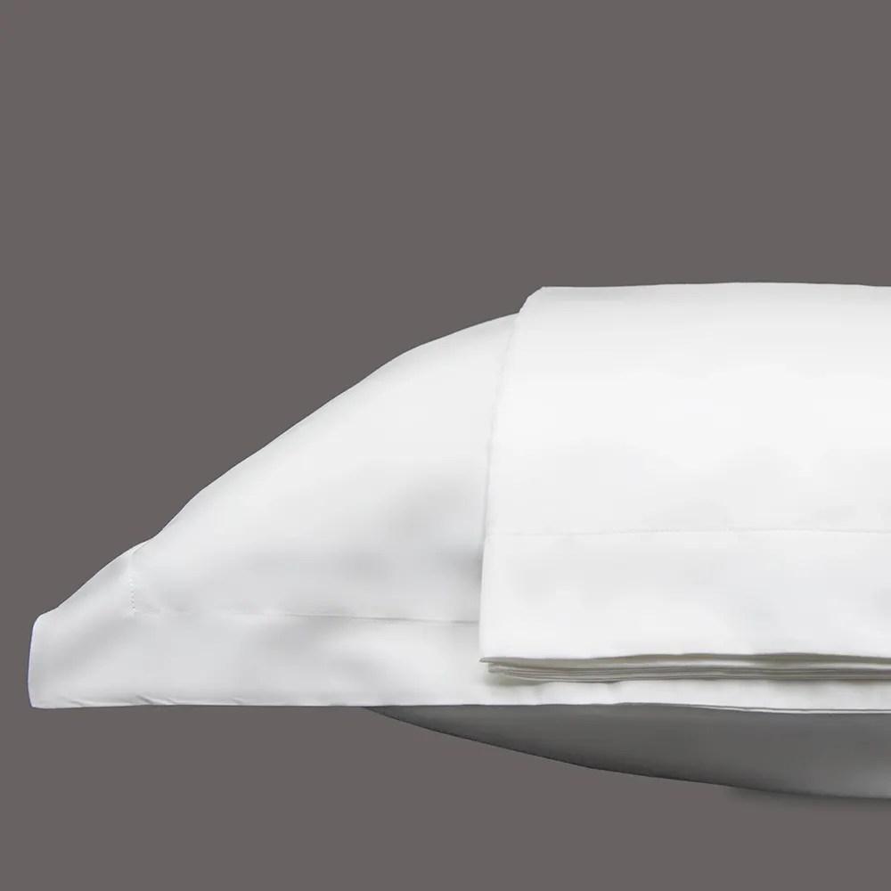 nice sateen white pillow shams set 300 thread count