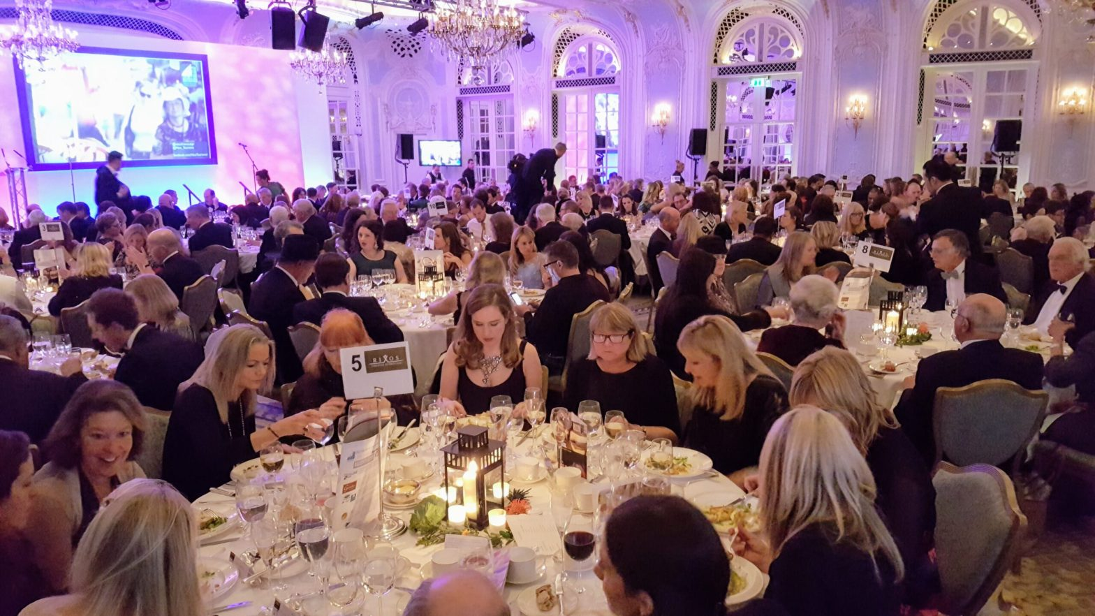 Black tie awards at The Savoy London