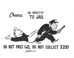 Monopoly Jail card - Hasbro TM