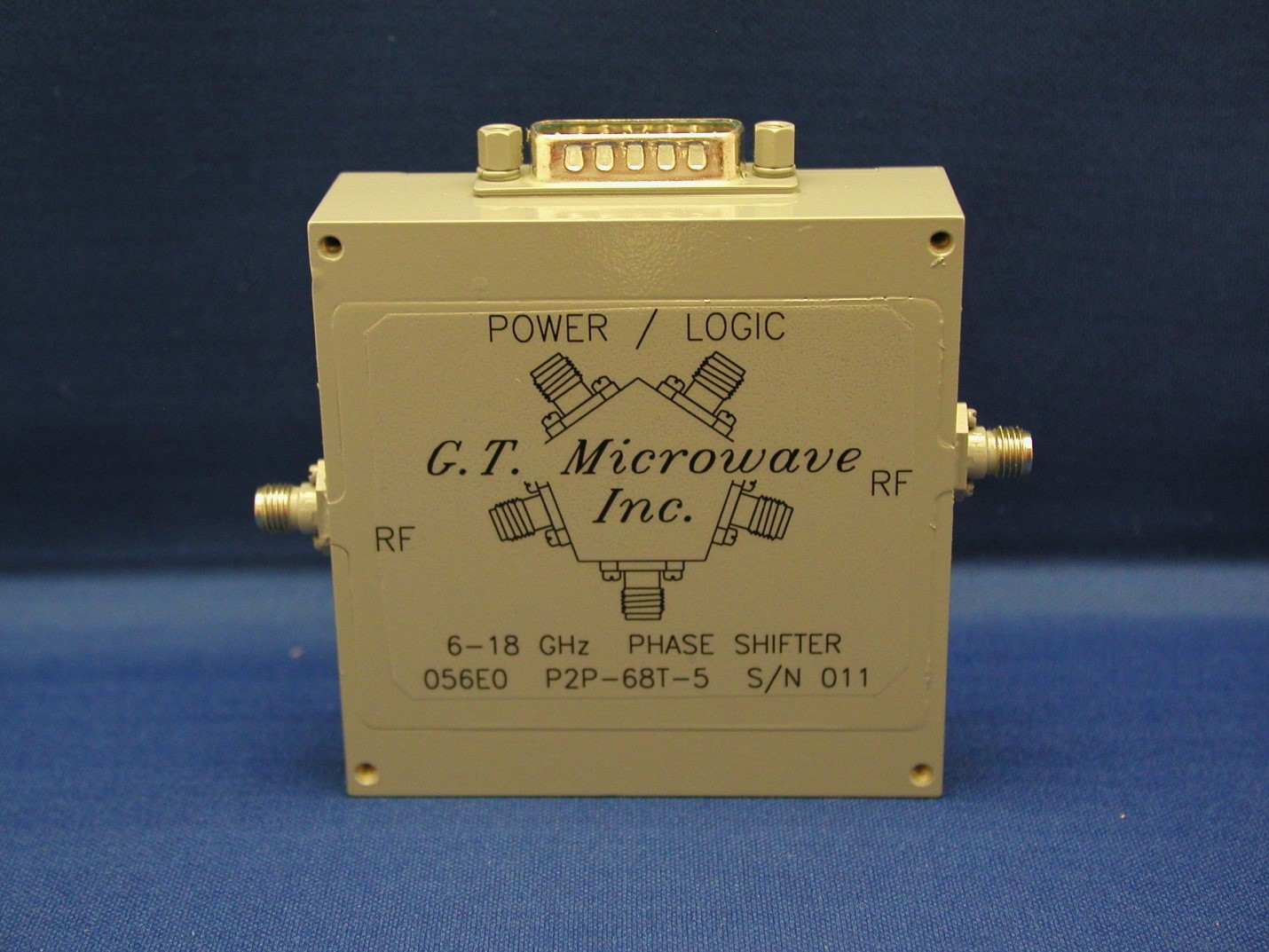 g t microwave inc 6 18 ghz 12 bit phase shifter