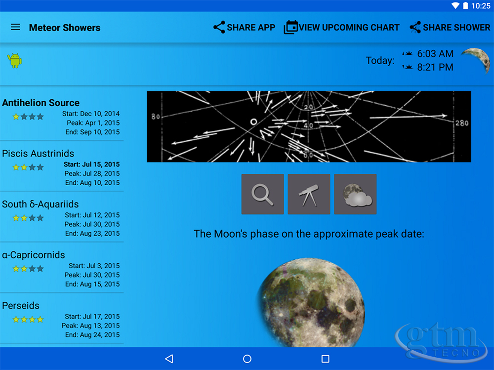App: Meteor-Shower-Calendar