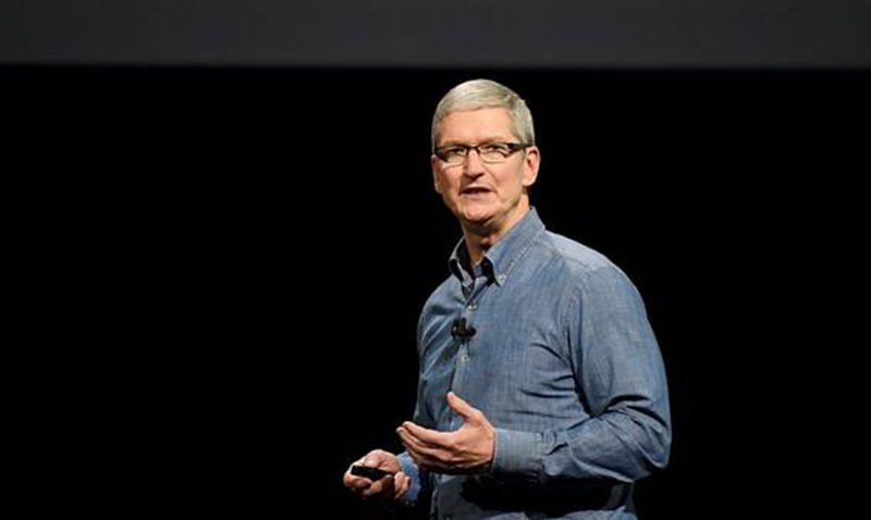 Tim Cook (CEO de Apple) en la apertura de la Worldwide Developers Conference (WWDC 2016)