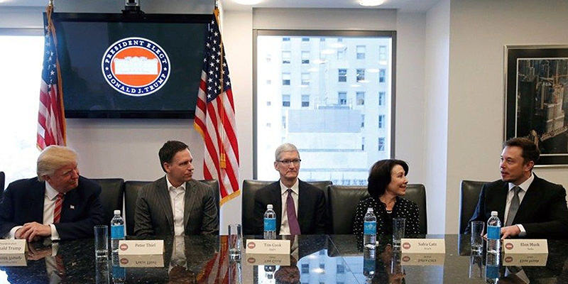 Las principales compañías tecnológicas estadounidenses están contra Donald Trump y su nueva política anti-refugiados.