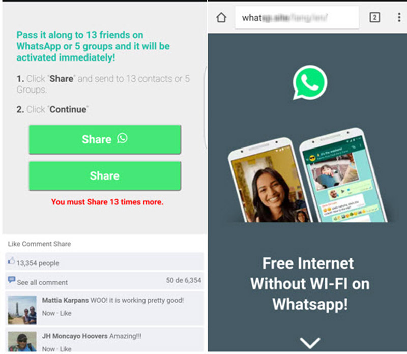 Cuidado con los engaños en WhatsApp