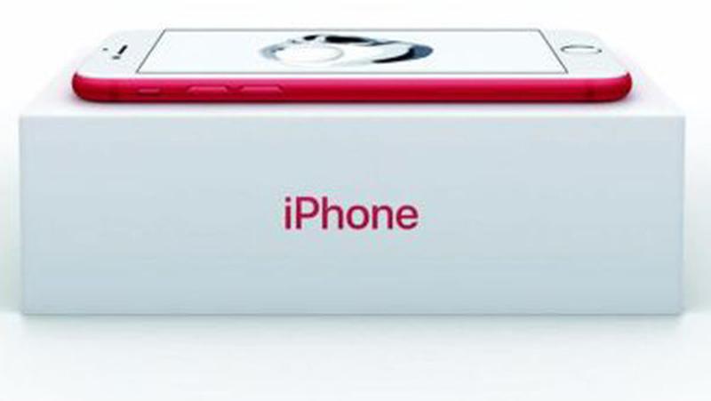 Apple lanza el iPhone 7 rojo para luchar contra el Sida