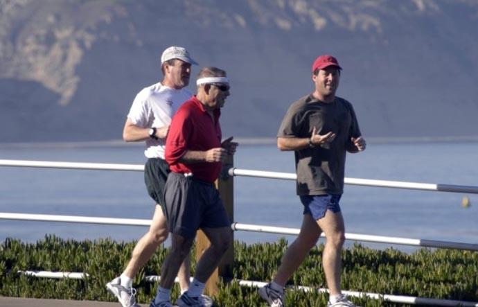 Скорость бега марафонца