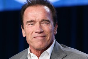 PASADENA, CA - JANUARY 16: Arnold Schwarzenegger attends the 2014 TCA Winter Press Tour - CBS/CW/Showtime Panels  at The Langham Huntington Hotel and Spa on January 16, 2014 in Pasadena, California. (Photo by JB Lacroix/WireImage)