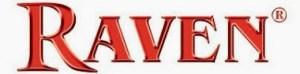 raven logo metallic red
