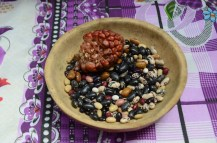 Different beans from Peru