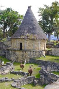 Rebuilt house at Kuélap