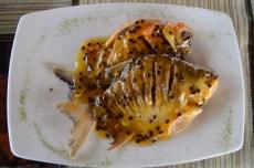 Gamitana in Maracuya sauce, la Patarashca, Tarapoto