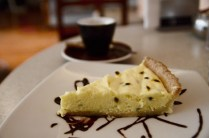 White chocolate and maracuya pie at Bisseti café, Lima