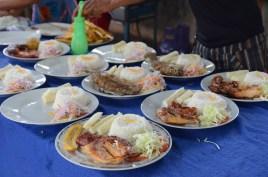 Preparing the lunch service with Debora, Laguna Azul