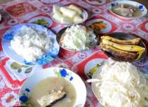 Feast menu at San Miguel village