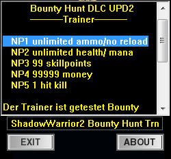 Shadow Warrior 2: Trainer +5 v1.11.3.82 {dR.oLLe}
