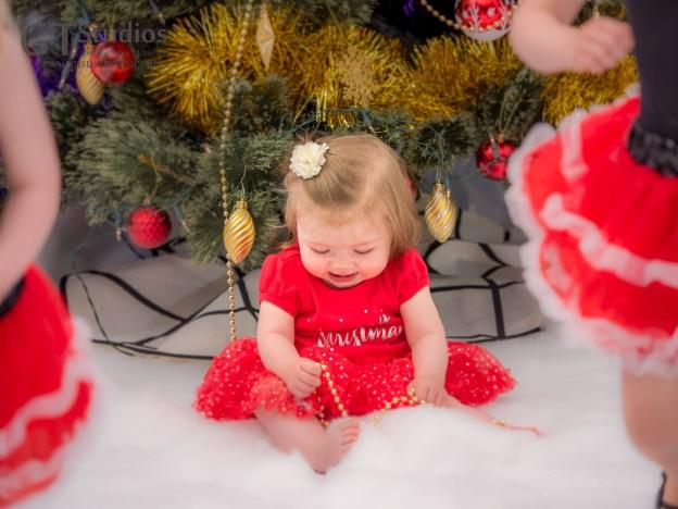 Un-decorating the Christmas tree!