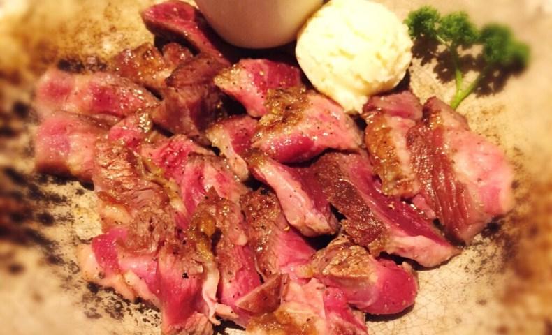 熟成アンガスビーフの炭焼ステーキ